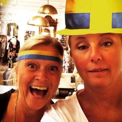 Vi såg ej matchen men vi gav vårt stöd🇸🇪🎉⚽️🇸🇪 Grattis Sverige!!