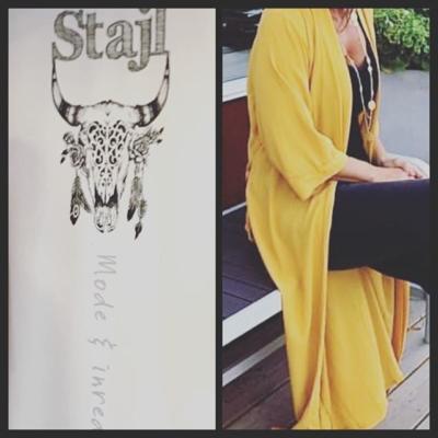 Nytt märke i butik Stajl 😊  Kaftan / kofta finns i svart och gult #butikehlsasgarderob