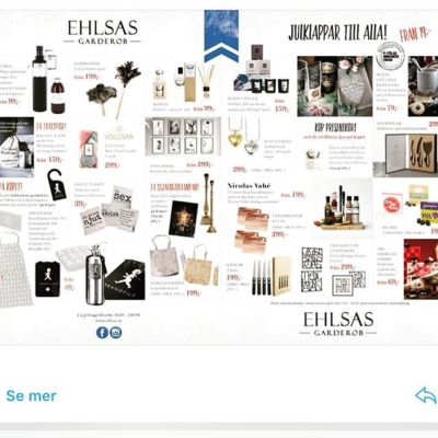 Idag har den äntligen kommit ut!! #etagemagazine 🗞🙌🏼 Vårt uppslag är fullt av julklapps ideer 👍🏼🎅🏽🎁