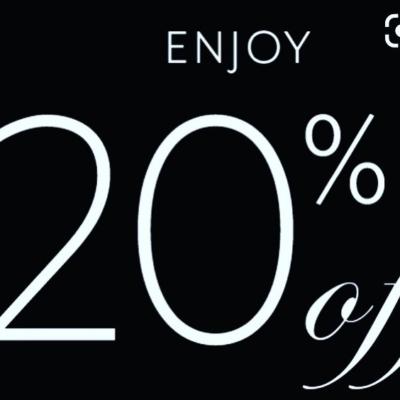 Vi fortsätter med 20 % rabatt idag me 👍 välkomna