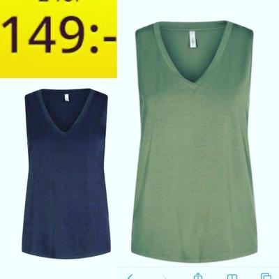 Gult svart och olivgrönt linne i lyocell , tungt gott fall  Endast 149kr